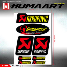 Humaart Crossmotor Heatproof Stickers Zelfklevend Vinyl Decals Sheet Voor Akrapovic Exaust Pipe Motorfiets Auto(China)