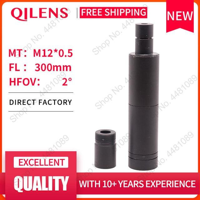 """QILENS 300mm güvenlik kamerası lens 1/3 """"görüntü formatı uzun görüş mesafesi M12 montaj yatay görüş açısı 1.15D manuel odaklama"""
