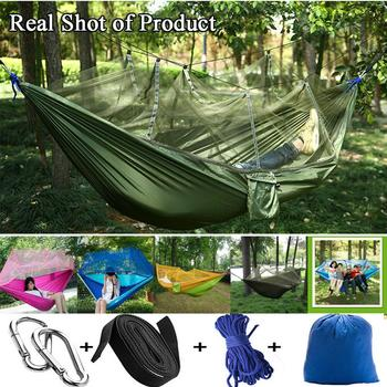цена на Double Hammock Portable Ultralight Mosquito net Parachute Hammock with Anti-mosquito bites for Outdoor Camping Tent