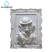 Strongwell American Resin Animal Head Wall Painting Decoration Background Photo Art Home Accessories Figurine