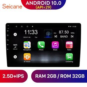 Seicane 2DIN Android 10,0 9 pulgadas Universal coche Radio Unidad de navegación GPS Player 4-Core Soporte cámara de respaldo
