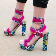 Women Chunky Heel Sandals Open Toe Metal Buckle Shoes Hoop Loop Platform Sporty Shoes Stable Ankle Strap Dress Dance Shoes Pole newest rose gold patent leather dress high heel sandals chunky heel ankle buckle strap dress shoes high platform champagne shoes