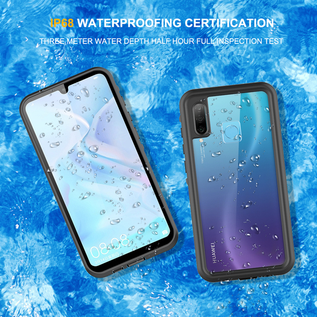 """Waterproof Case for Huawei Honor 20 Lite Russian Version 6.15"""" MAR LX1H Full Protection Swimming Diving Outdoor Shockproof Case"""