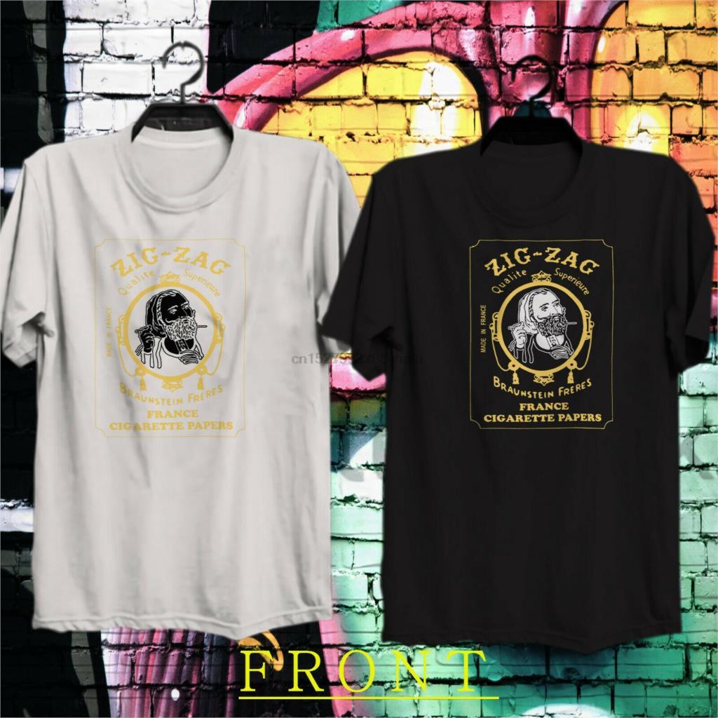 Zig Zag blue T-shirt retro vintage 70/'s hippie graphic printed 100/% cotton tee