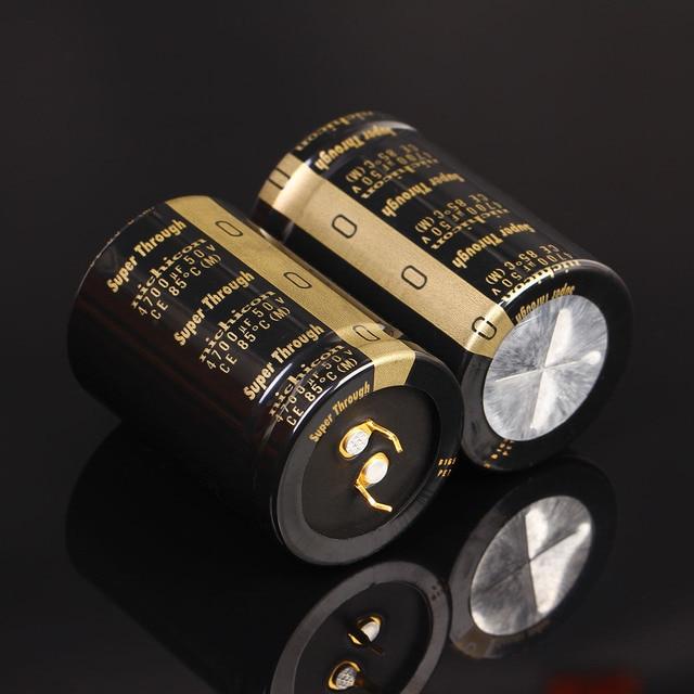 2 шт., сверхпросвечивающий усилитель NICHICON, 50 в, 4700 мкФ, 35x50 мм, Тип III, 4700 мкФ, 50 в, фильтрующий усилитель, мкФ/50 в, золотые ножки, 4700U