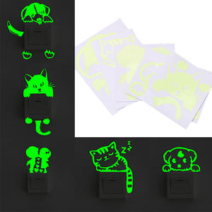 Decoration Sticker Glowing Cartoon Switch 1pc Fluorescent NICEYARD