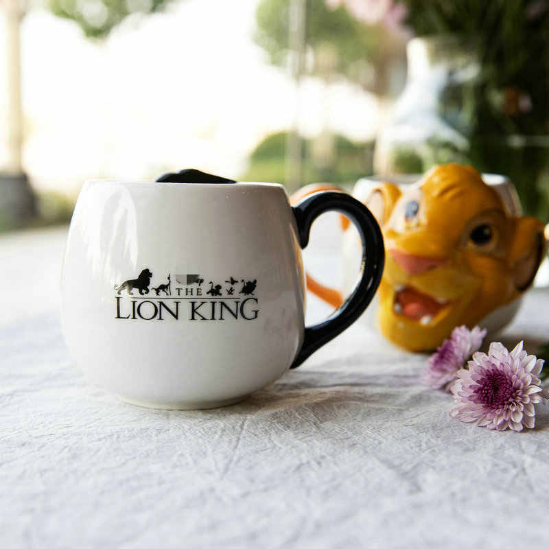 Disney Drie-Dimensionale Reliëf Lion King Keramische Mok Koffie Cup Ontbijt Cup