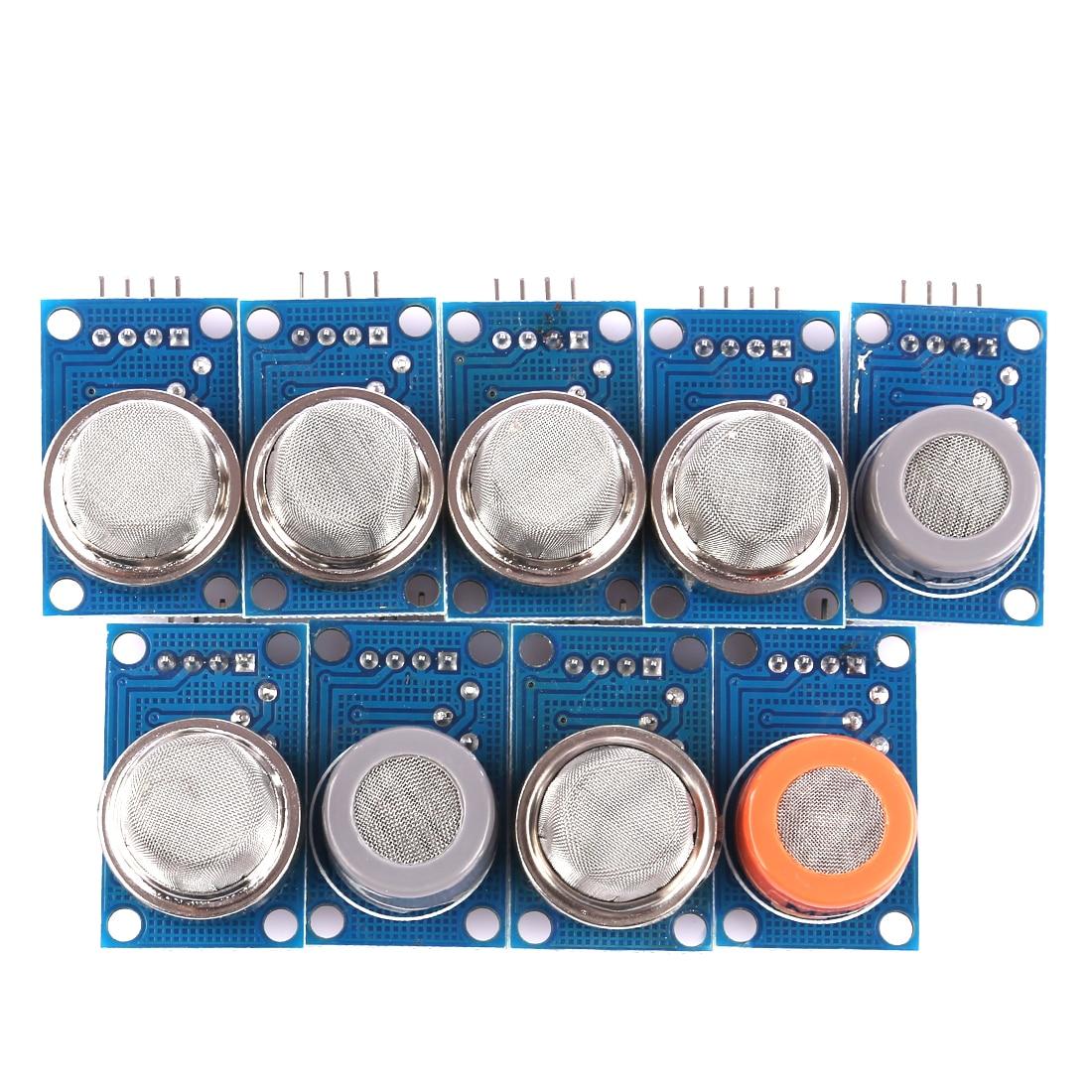 9Pcs Sensor Module Kit With MQ2 MQ-3 MQ-4 MQ-5 MQ-6 MQ-7 MQ-8 MQ-9 MQ-135 Sensor For Arduino