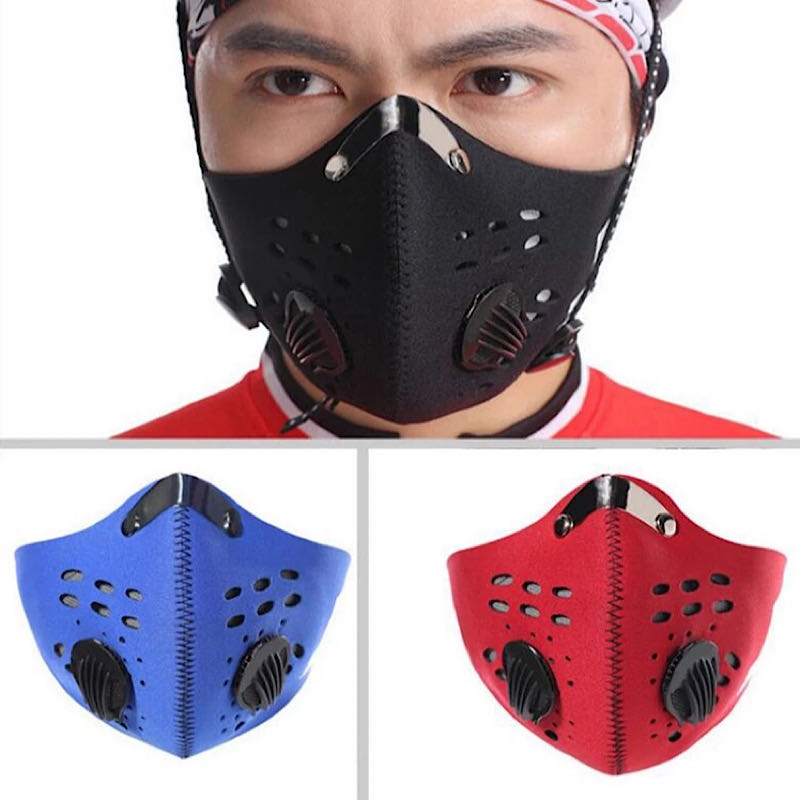 Respirator N99 Filters KN95 Mask For Pollution Pollen Allergy Woodworking Running Washable Neoprene Half Face Mouth Mask N95