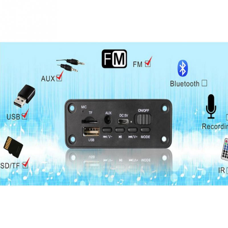 Модуль Aux FM 2,0 автомобильный с усилителем WAV Bluetooth MP3 декодер плата 2x 3W аудио USB интерфейс Двойное декодирование Многофункциональный