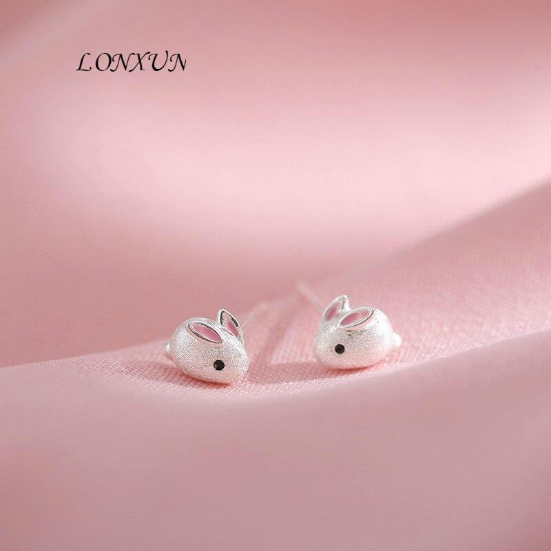 Haute qualité mode coréenne lapin sauvage 925 argent boucle d'oreille pour dames le meilleur cadeau d'anniversaire fête accessoires filles bijoux