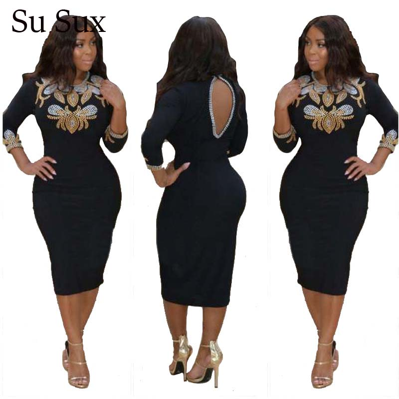 Black Bandage Bodycon Dress Women African Clothes Diamond Sequin Evening Party Club Mini Dress 2020 Summer Vestidos