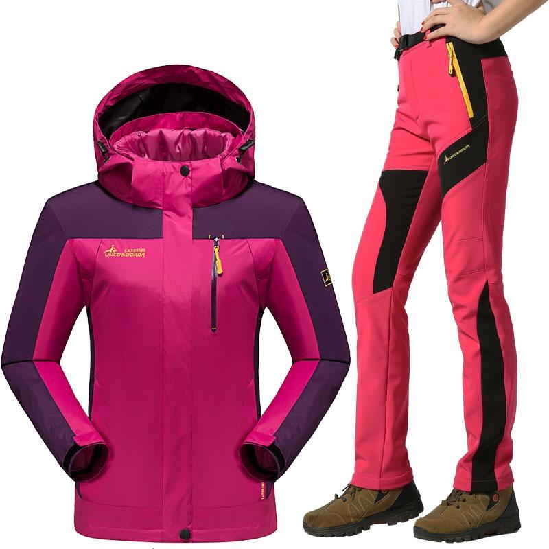Ski Suit For Women Winter Warm Windproof Waterproof Outdoor Sports Snow Ski Jackets And Pants Hot Ski Equipment Snowboard Jacket