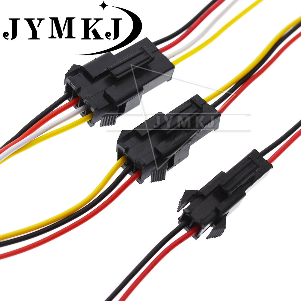 10PCS JST SM2.54 2/3/4/5/6 Pin Pitch 2.54mm Wire Cable Connector SM Plug Male & Female Battery Charging Cable 200MM Length 26AWG