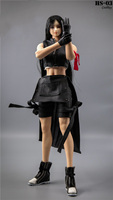 Tifa Lockhart Costume Fantasy Girl Goddess Clothes HS 03 1/6 Scale Female Figure Accessory Model for 12 inches Action Figure