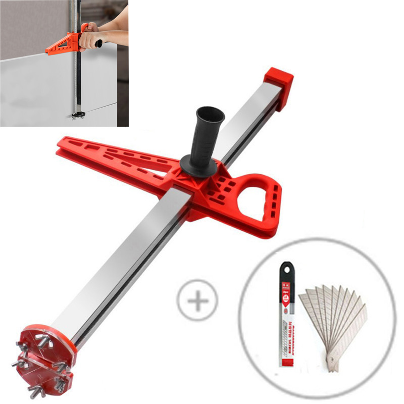 Drywall cutting Manual Gypsum Board Cutting Artifact Roller Type Hand Push Drywall Cutting Tool Stainless Steel Woodworking tool