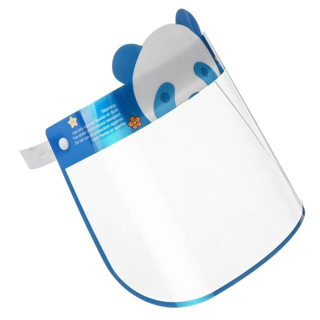 5PCS Kids Full Face Shield Mask Transparent Protective Visor Face Mask Plastic Anti Splash Anti saliva Dustproof Full Face Cover 3
