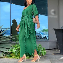 Hot Sale 2019 Fashion Women Dress Elegant Solid  Summer Casual Femme Vestido