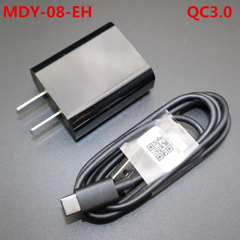 Qc3.0 carregador de viagem rápida adaptador de carregamento USB-C/tipo c cabo para xiao mi original 5 mi 4c se 9 mi 8 5c 5x 5a note2 oneplus 5