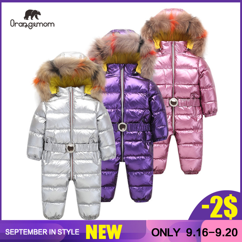 Orangemom enfants combinaison bébé filles hiver manteau marque veste pour filles vêtements, épaissir infantile fille manteau infantile snowsuit