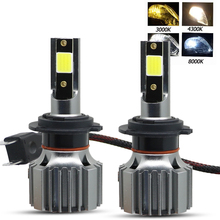 2 PCS Mini Car Headlight H7 LED H4 H1 H3 4300K 8000K 6500K 3000K LED Bulbs H11 H8 H9 9005 HB3 9006 HB4  Auto Fog Lights Lamp 12V clearlight hb3 9005 4300k 2 шт