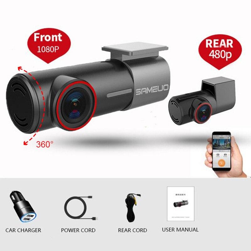 Caméra de tableau de bord U700, détecteur DVR de voiture avec WiFi, Mini enregistreur vidéo FHD 1080P caché, boucle de moniteur de stationnement 24H