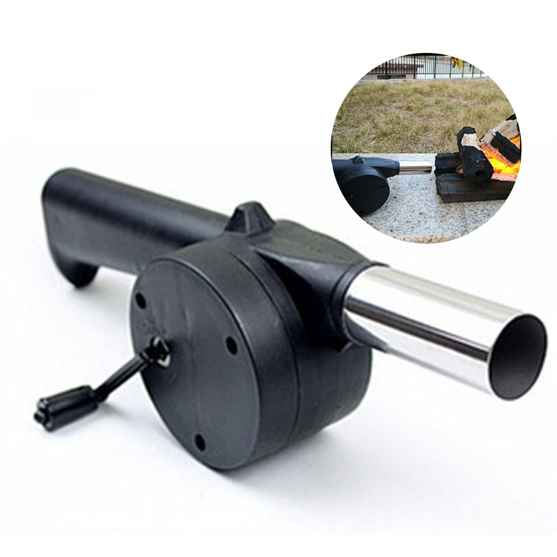 Zerodis BBQ Blower Portable Handheld Electric Barbecue Fan Air Blower for Outdoor Camping Picnic Grill Cooking Tool