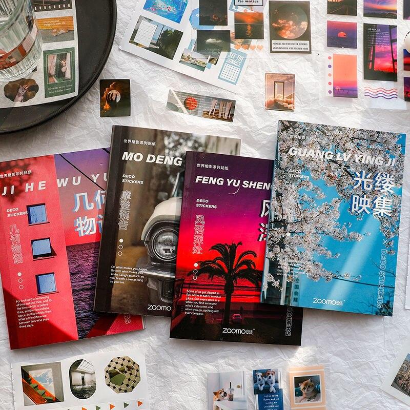 20 blätter Von EINE Welt Miniatur Serie Aufkleber Buch Kreative Magazin Journal Dekoration Sammelalbum Aufkleber Material Schreibwaren