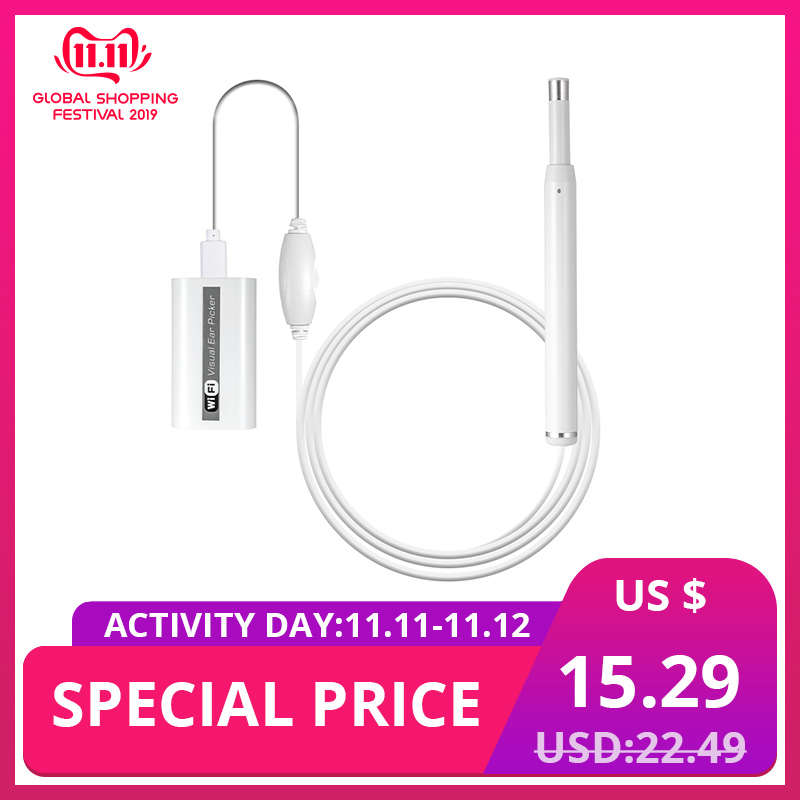KERUI 720P HD Multipurpose Otoscope USB WiFi Endoscope Borescope Ear Picker Cleaner Mini Camera Support PC MAC Android IOS Phone