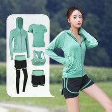 Yoga feminino terno de fitness tênis camisa + calças correndo apertado jogging treinamento yoga collants esportes terno