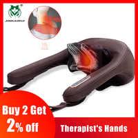 Antiestrés eléctrico masaje para cuello y hombros almohadas malaxación Clip doméstico Dispositivo de masaje Cervical masajeador herramienta de salud