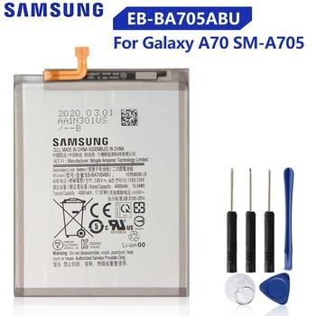 Original Replacement Battery EB-BA705ABU For Samsung Galaxy A70 A705 SM-A705 Genuine Phone Battery 4500mAh original samsung replacement battery eb ba715aby for galaxy a71 sm a7160 genuine phone battery 4500mah