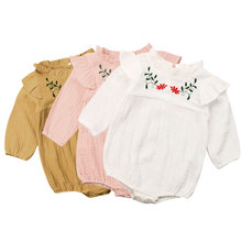 0-24M Flower Newborn Baby Girl Rompers Long Sleeve Jumpsuit