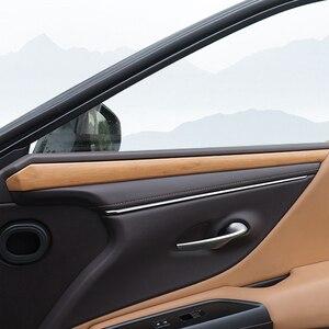 Image 4 - QHCP Auto Dashboard Streifen Tür Innere Panel Aufkleber Schneidet Holz Innen Zubehör Carbon Faser Stil Für Lexus ES200 260 300H 2018