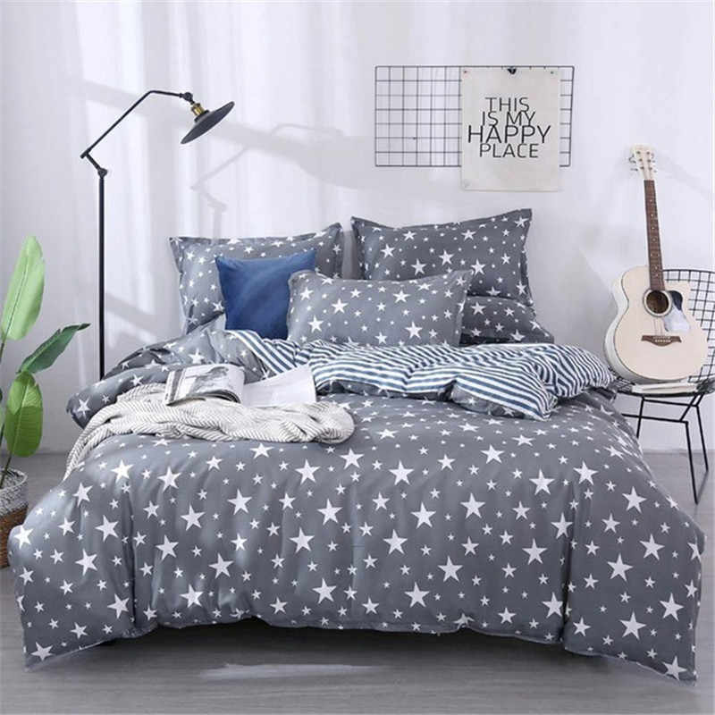High Quality Aloe Cotton Stars Bedding Set Soft Skin-friendly Duvet Cover & Flat Bed Sheet & Pillowcase Home Textile Wholesale