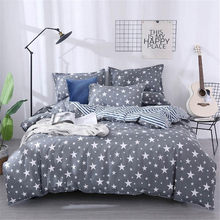 High Quality Aloe Cotton Stars Bedding Set Soft Skin-friendly Duvet Cover & Flat Bed Sheet & Pillowcase Home Textile Wholesale(China)