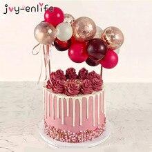 5 дюймов воздушный шар гирлянда Арка Торт Топперы Свадебная вечеринка принадлежности день рождения торт украшение дети ребенок душ топперы торты воздушные шары