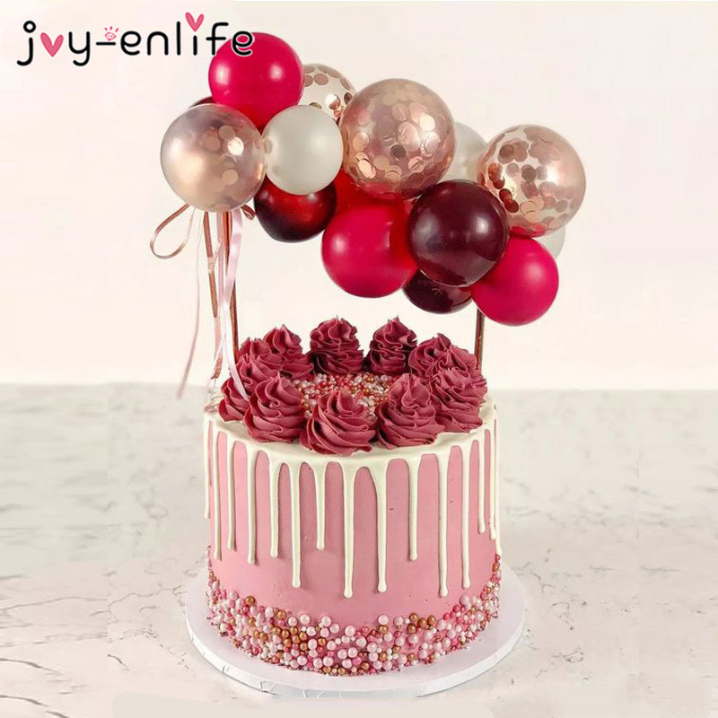 5inch Balloon Garland Arch Cake Toppers Wedding Party Supplies Birthday Decoration Kids Baby Shower Cakes Balloons