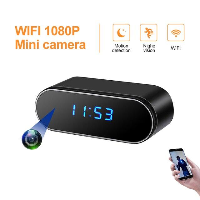 มินิกล้อง IP กล้องมินิกล้อง WiFi microcamera minicamera 1080P นาฬิกาปลุกรีโมทคอนโทรล Micro Night Vision