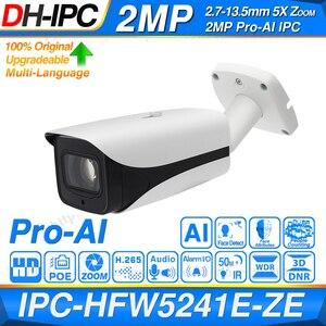Image 1 - Dahua Original IPC HFW5241E ZE IPC HFW5241E Z12E Pro AI 5X 12X ZOOM POE SD Slot Alarm Aduio I/O H.265 IP67 IK10 50M IR IP Camera