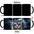 1 шт.  новинка  милая кружка с рисунком кота  меняющая цвет  керамическая чашка  чашка для молока  кофейная кружка  волшебная кружка  подарок д...