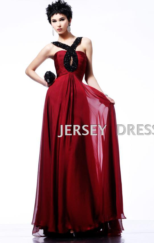 Free Shipping New 2019 Hot Vestidos Formales Red Long Chiffon Design Beaded Brides Maid Gowns Party Prom Bridesmaid Dresses