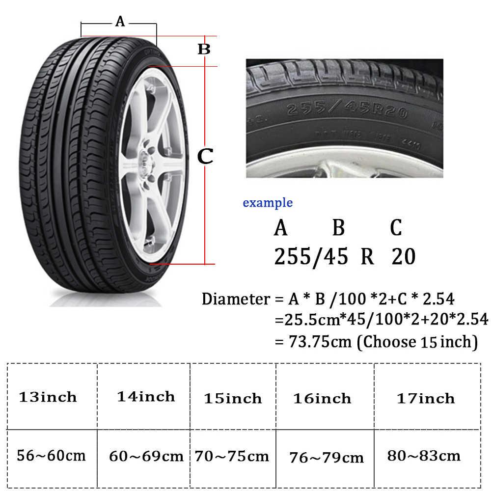Car spare wheel cover spare tire cover Case 15 inch PVC Garage Tire Protector