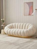 150 سنتيمتر أريكة سرير الحملان الصوف الشمال نمط الحديثة التعاقد اليقطين القماش الفن أريكة مريحة طقم أريكة غرفة المعيشة الأثاث الأريكة