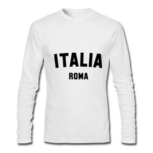 T Shirts Men ITALIA ROMA 2020 New Arrival Autumn Winter Clothing Luxury Long Sleeve Male Tshirt Vespa Barcelona Soccer T shirt