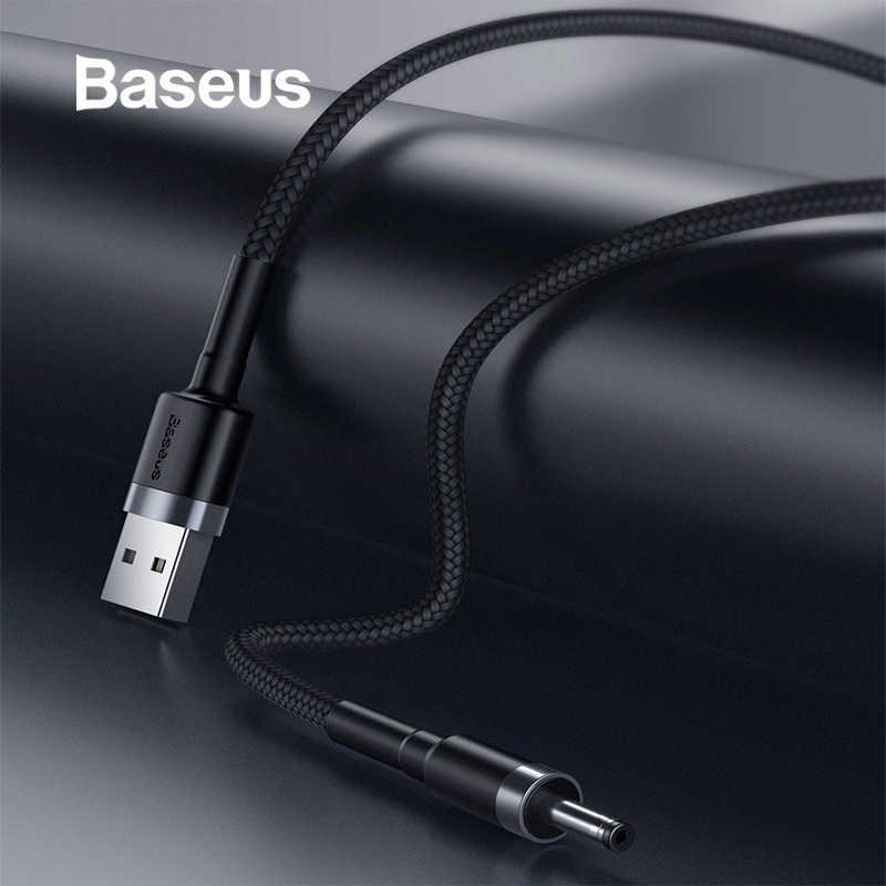 Baseus USB do dc 3.5mm kabel zasilający do koncentratora USB żyrandol z wentylatorem 2A adapter zasilacza do ładowarki do małego sprzęt agd USB do dc