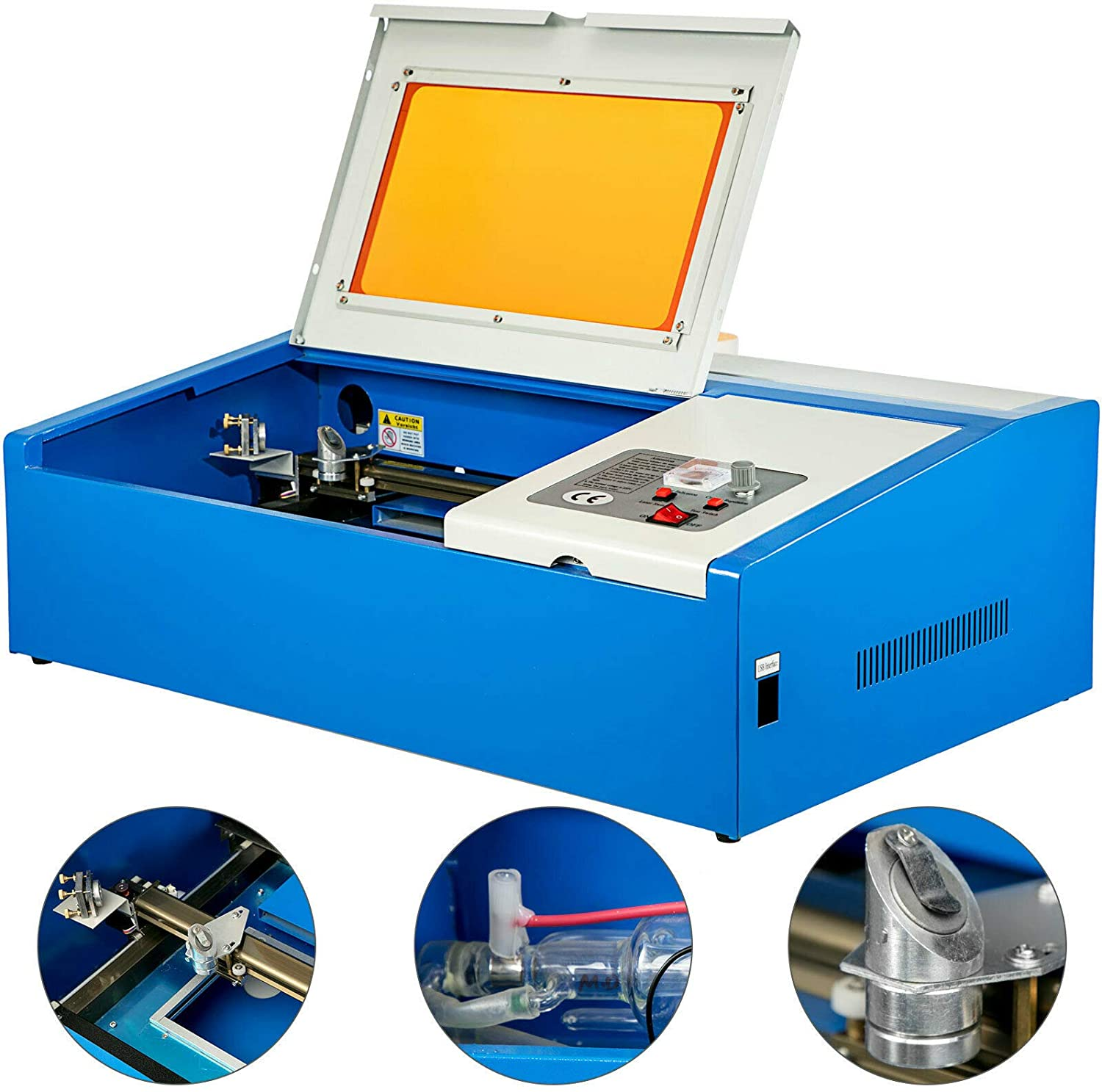 Laser Cutting Machine CO2 Laser Engraver Engraving Machine USB 3020 40W With Tube For Acrylic Wood Leather Various Materials
