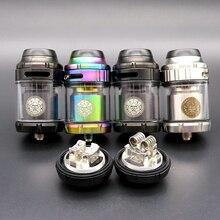 Hongxingjia Vape Zeus X RTA atomiseur vaporisateur 3.5ml 4.5ml Pyrex verre réservoir électronique boîte à cigarettes Mods Kits Vaper fumeur