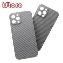 Cf pele caso de fibra de carbono para apple 12 iphone 12 pro max caso totalmente fechado escudo protetor de fibra aramida caso material