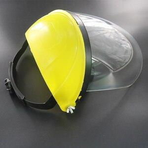 Image 4 - Anti choque protetor máscara facial completa capacete de soldagem anti uv segurança clara anti respingo escudo viseira suprimentos de proteção de local de trabalho